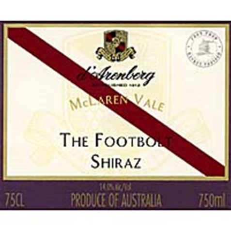 Picture of d'Arenberg The Footbolt Old Vine Shiraz 2001 750mL