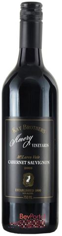 Picture of Kay Brothers Amery Estate Cabernet Sauvignon 2003 750mL