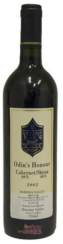 Picture of Viking Wines Odins Honour Cabernet Sauvignon Shiraz 2002 750mL