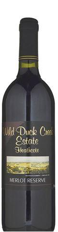 Picture of Wild Duck Creek Estate Reserve Merlot 2001 750mL