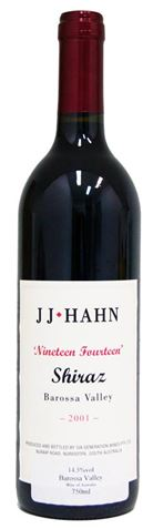 Picture of JJ Hahn-1914 Block-Shiraz-2001-750mL
